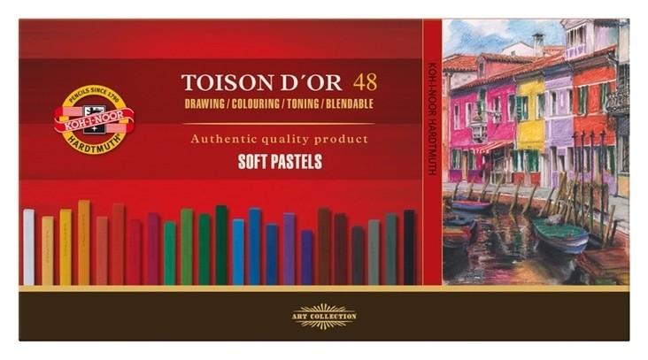 Пастель сухая художественная 48 цветов, Soft Koh-i-noor Toison D`or 8586  Koh-i-noor