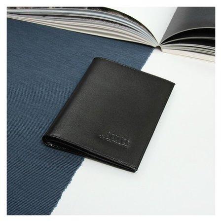Обложка для автодокументов, отдел для паспорта, шик, цвет чёрный  Максим