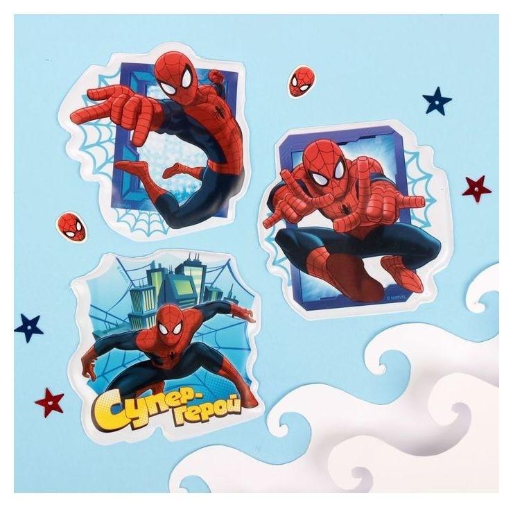 Наклейки детские в ванну в наборе Супер-герой человек-паук (Набор 3шт) Marvel
