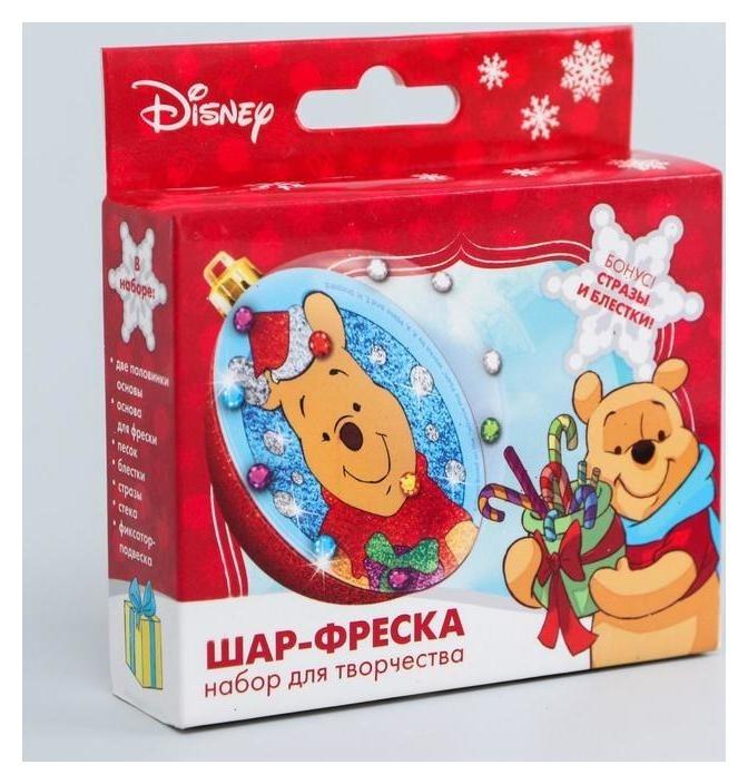 Новогодний ёлочный шар с фреской С новым годом! медвежонок винни Disney