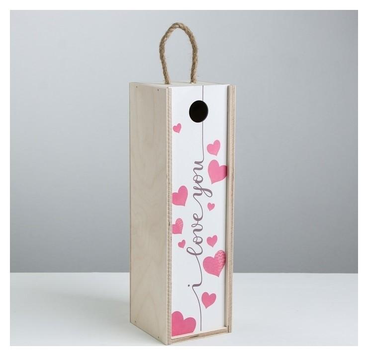 Ящик под бутылку «I Love You», 11 × 33 × 11 см Дарите счастье