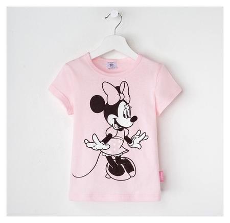 """Футболка детская Disney """"Минни"""", рост 98-104 (30), розовый  Disney"""