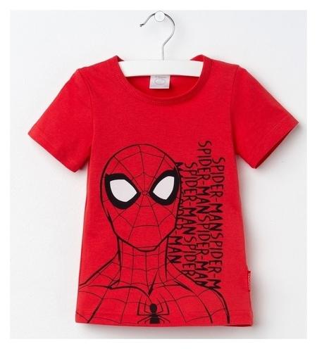 """Футболка детская Marvel """"Человек паук"""", рост 110-116 (32), красный  Marvel"""