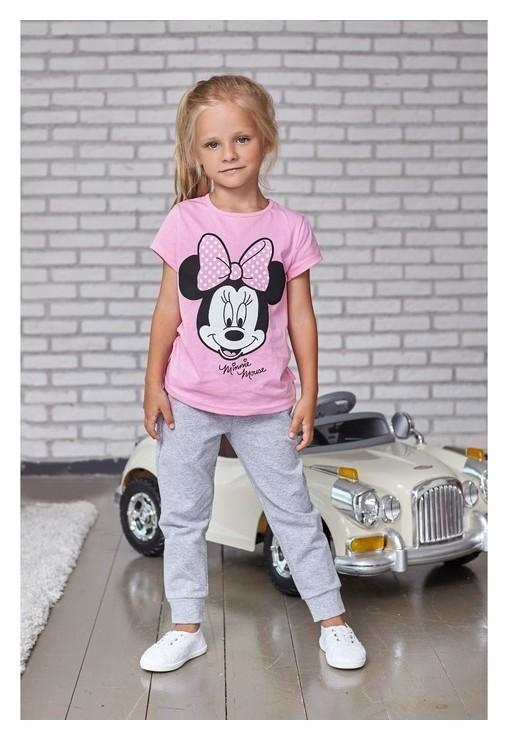 """Футболка детская Disney """"Minnie Mouse"""", рост 110-116 (32), розовый  Disney"""