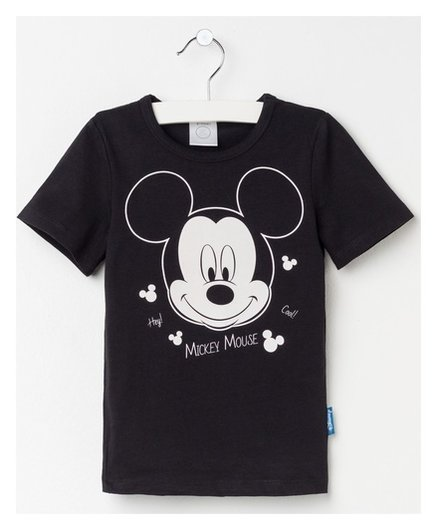 """Футболка детская Disney """"Mickey Mouse"""", рост 110-116 (32), чёрный  Disney"""