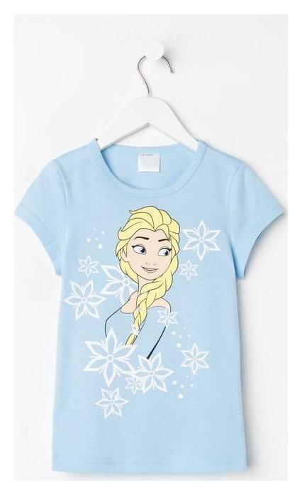 """Футболка детская Disney """"Frozen"""", рост 110-116 (32), голубой  Disney"""