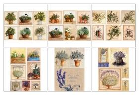 Набор декупажных карт 6 шт «Травы прованса»  NNB
