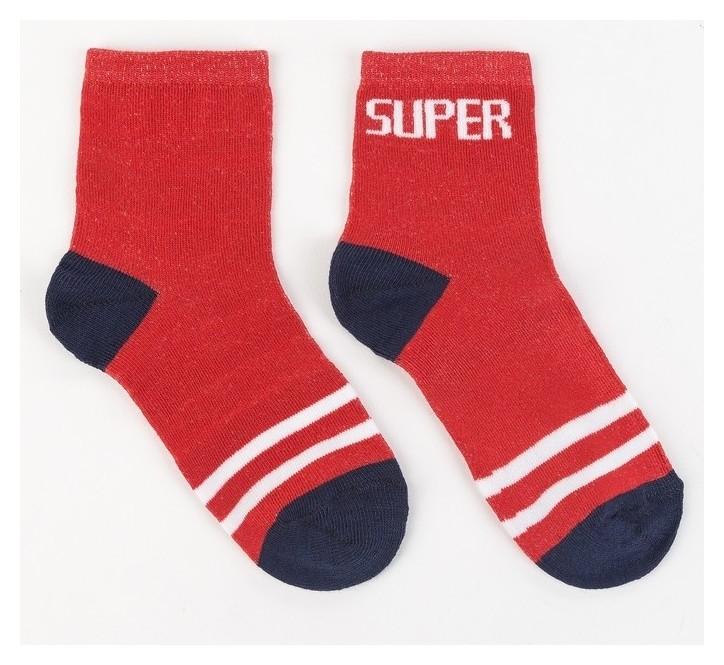 Носки детские, Super цвет красный, р-р 22-24 Happy frensis