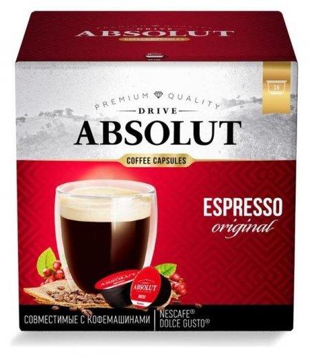 Капсулы для кофемашин Dolce Gusto: Drive Absolut Dg эспрессо 96г  ABSOLUT