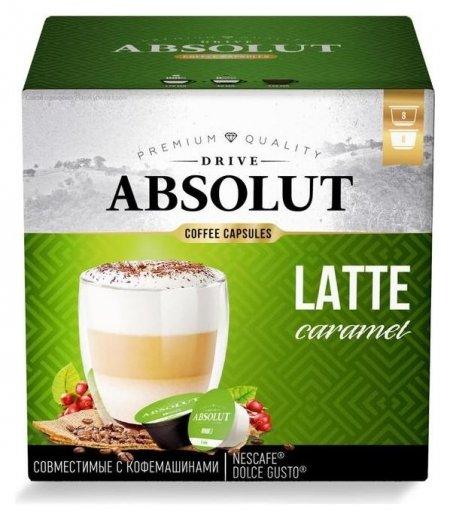 Капсулы для кофемашин Dolce Gusto: Drive Absolut Dg латте маккиато 168г/со вк.карамели  ABSOLUT