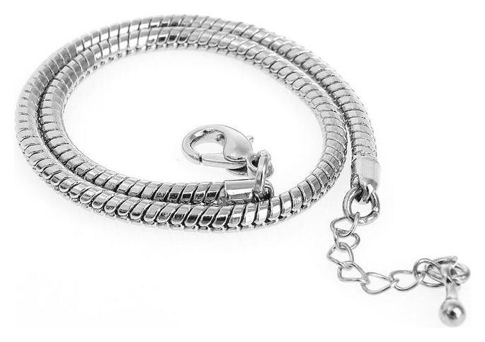 Основа-браслет универсальный 23 см, цвет серебро  Queen Fair