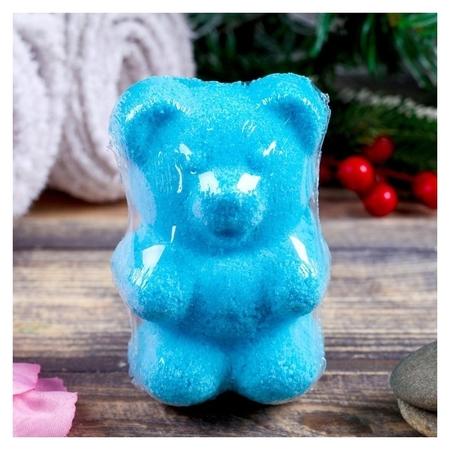 Шипучая бомбочка Медвежонок с ароматом яблока  Добропаровъ