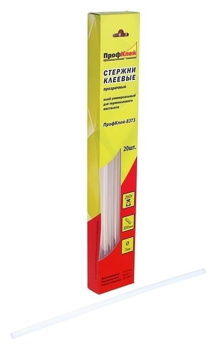 Стержни клеевые Профклей 8373, универсальные, прозрачные, 7х300 мм, 20 шт. ПрофКлей