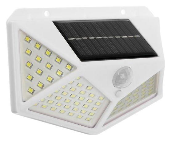 Светильник уличный с датчиком движ., солн. батарея, 270 градусов, 19 вт,100 Led,6500к, белый 51204 NNB