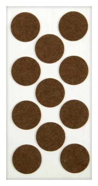 Подпятник войлочный D=40 мм, 11 шт., цвет коричневый  NNB