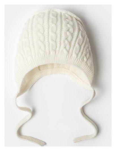 Шапка детская «Мимими», цвет молочный, размер 38-40 см, 1-3 месяц  Уси-Пуси