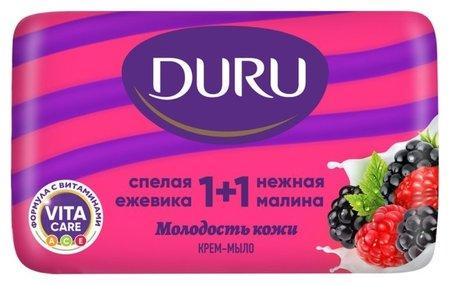 Крем-мыло туалетное Малина-Ежевика Duru 1+1