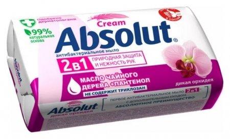 Мыло туалетное 2в1 антибактериальное Дикая орхидея  Absolut