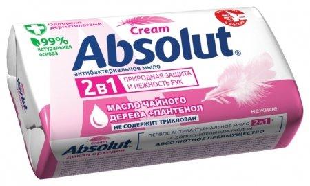 Мыло туалетное 2в1 антибактериальное Нежное   Absolut