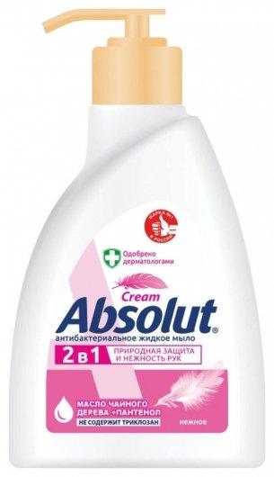 Крем-мыло жидкое 2в1 антибактериальное Нежное  Absolut