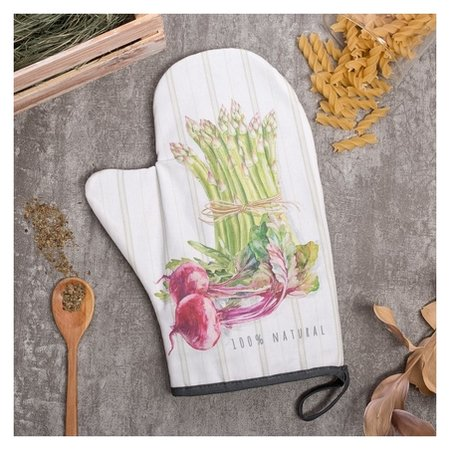 "Варежка-прихватка ""Vegetable"" 20х28см,саржа, 100% х/л, ватин 250г/м2  Этель"