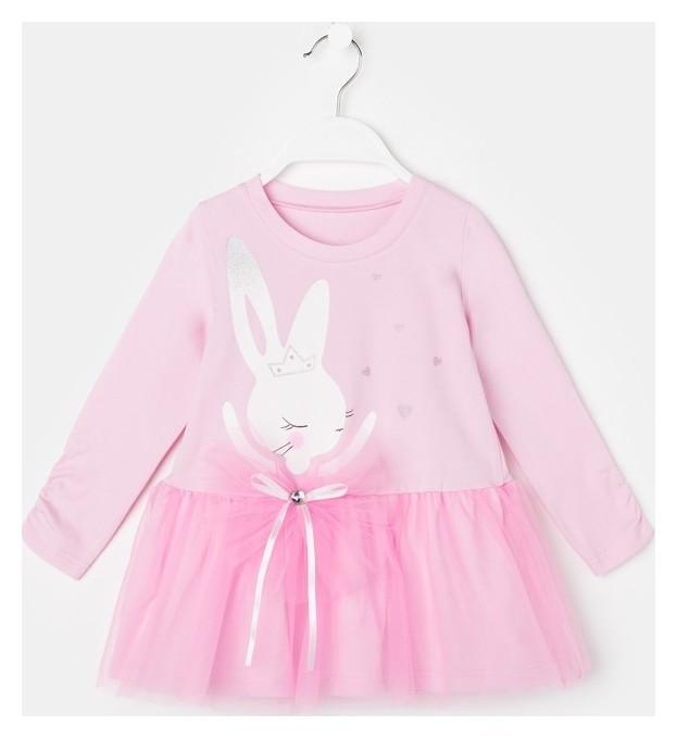 Платье для девочки, цвет светло- розовый, рост 110 Luneva