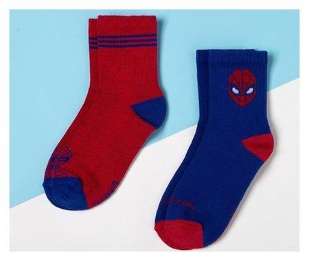 Набор носков Человек-паук 2 пары, красный/синий, 14-16 см Marvel