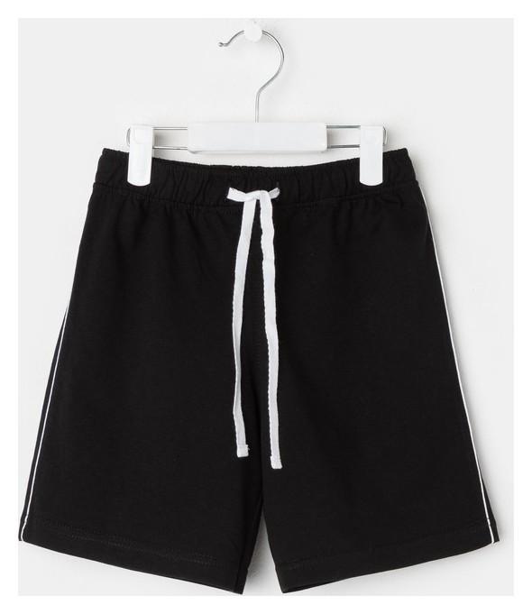 Шорты для мальчика, цвет чёрный, рост 104 см (56)  Luneva