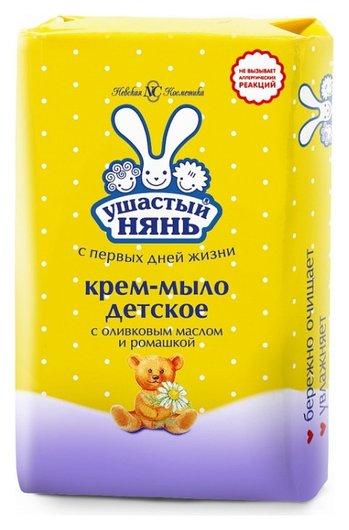 Детское крем-мыло с с оливковым маслом и ромашкой  Ушастый нянь