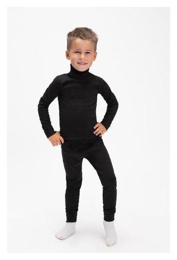 Комплект для мальчика термо (Водолазка,кальсоны) а.843/841, цвет черный, рост 104 см (30)  TUsi