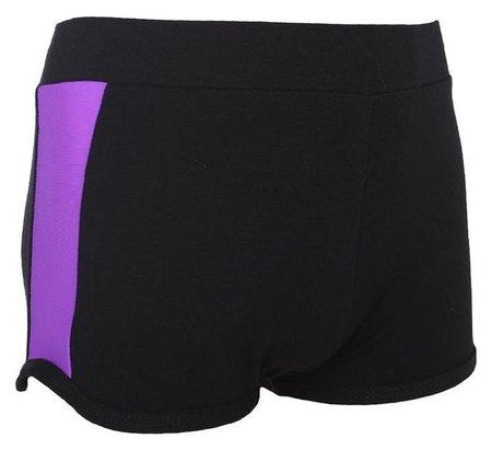 Шорты с лампасами, размер 34, цвет чёрный-фиолет  Grace dance