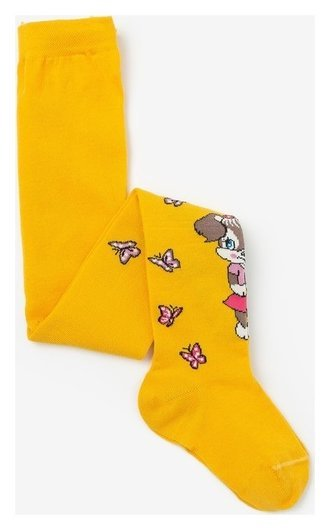 Колготки для девочки кдд1-2794, цвет желтый, рост 92-98 см  Носкофф