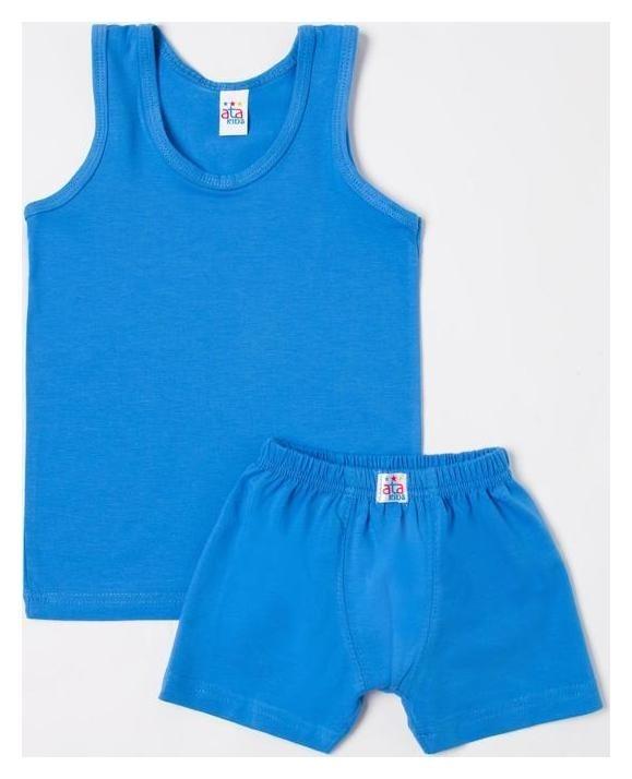 Комплект для мальчика (Майка/боксеры), цвет синий, рост 134 см (34)  Ata sport
