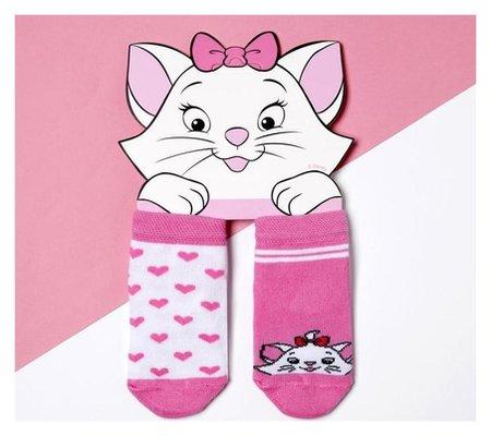 """Набор носков """"Мари"""", коты аристократы, 2 пары, 8-10 см  Disney"""