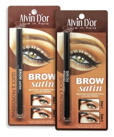 Пудровый карандаш для бровей Brow Satin  Alvin D'or