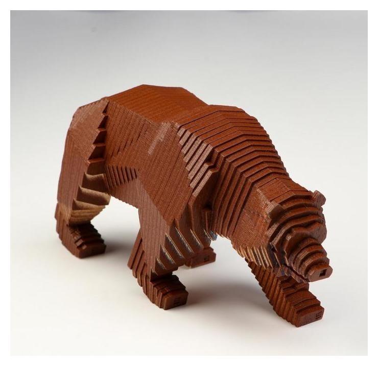 """Деревянный конструктор """"Медведь"""", с набором карандашей  NNB"""