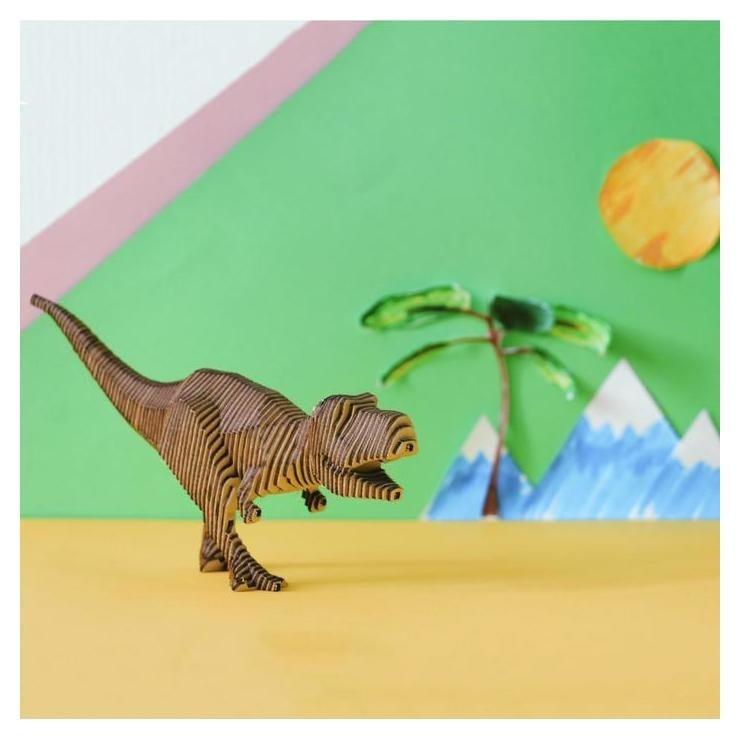 """Деревянный конструктор """"Тираннозавр"""", с набором карандашей  NNB"""