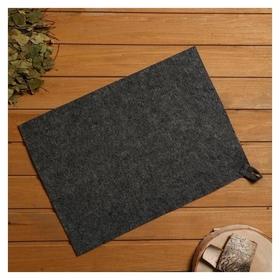 Коврик для бани и сауны, войлок серый, 38×52 см  NNB