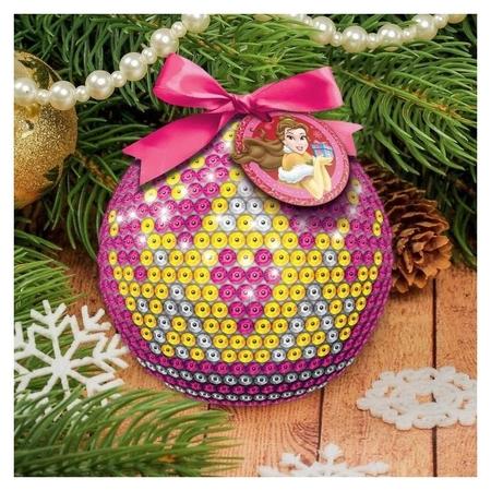 Новогодний ёлочный шар принцессы: белла с пайетками Disney