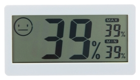 Термометр электронный с гигрометром (Dc206), на батарейках, пластик  LuazON