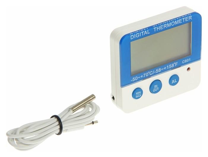 Термометр электронный Ltr-13, выносной датчик 90см, Lr44 в комплекте  LuazON