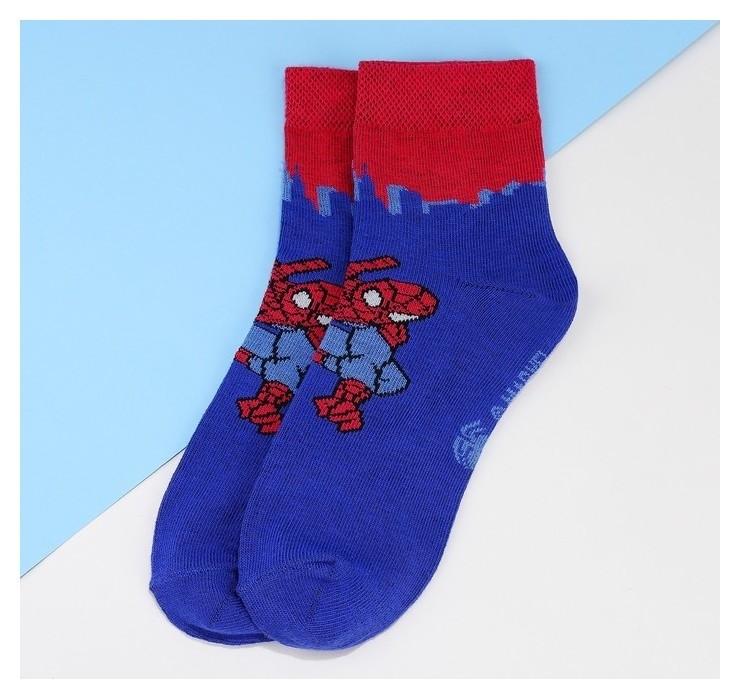 """Носки детские корот """"Человек паук"""", 18-20 см, 7-9 лет, 80% хл.,17% п/э, 3% эл.  Marvel"""