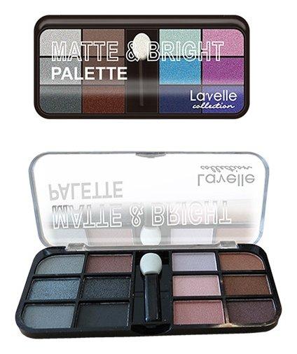 Тени для век 12-ти цветные Matte&Bright  Lavelle