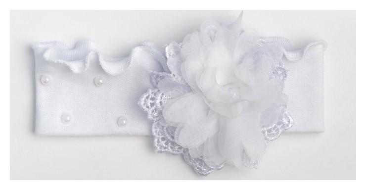 Повязка для девочки, цвет белый, размер 38-44  Мегашапка