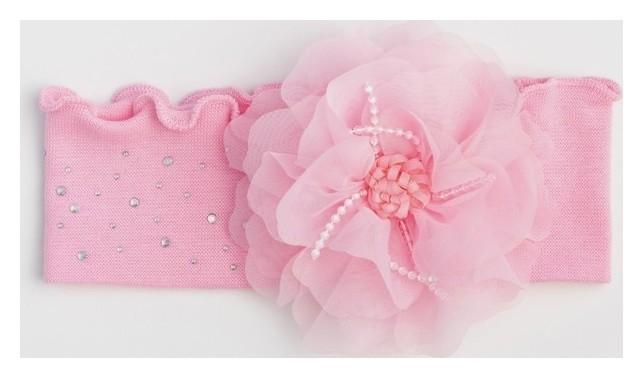 Повязка для девочки, цвет розовый, размер 46-50  Мегашапка