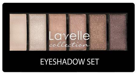 Тени для век 6-ти цветные  Lavelle