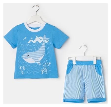 Комплект для мальчика, цвет голубой, рост 110  Luneva