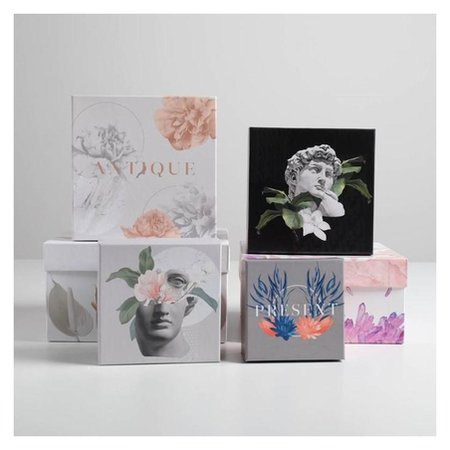 Набор подарочных коробок 6 в 1 «Античность», 10.2 х 10.2 х 6 - 20 х 20 х 11 см Дарите счастье