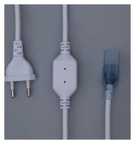 Шнур питания для неона 8х16/18 мм, до 50 метров, 220v  LuazON