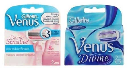 Сменные кассеты Gillette Venus Divine, 3 лезвия, 2 шт  Gillette